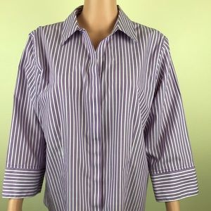 Chico's 3/4 sleeve button up top size 3 = 16